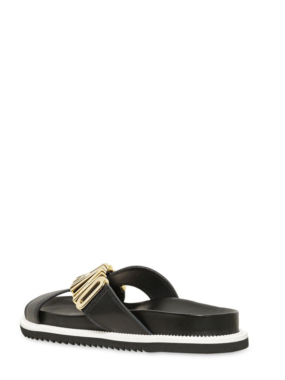 slingback logo sandals - Black Moschino J5MRzK