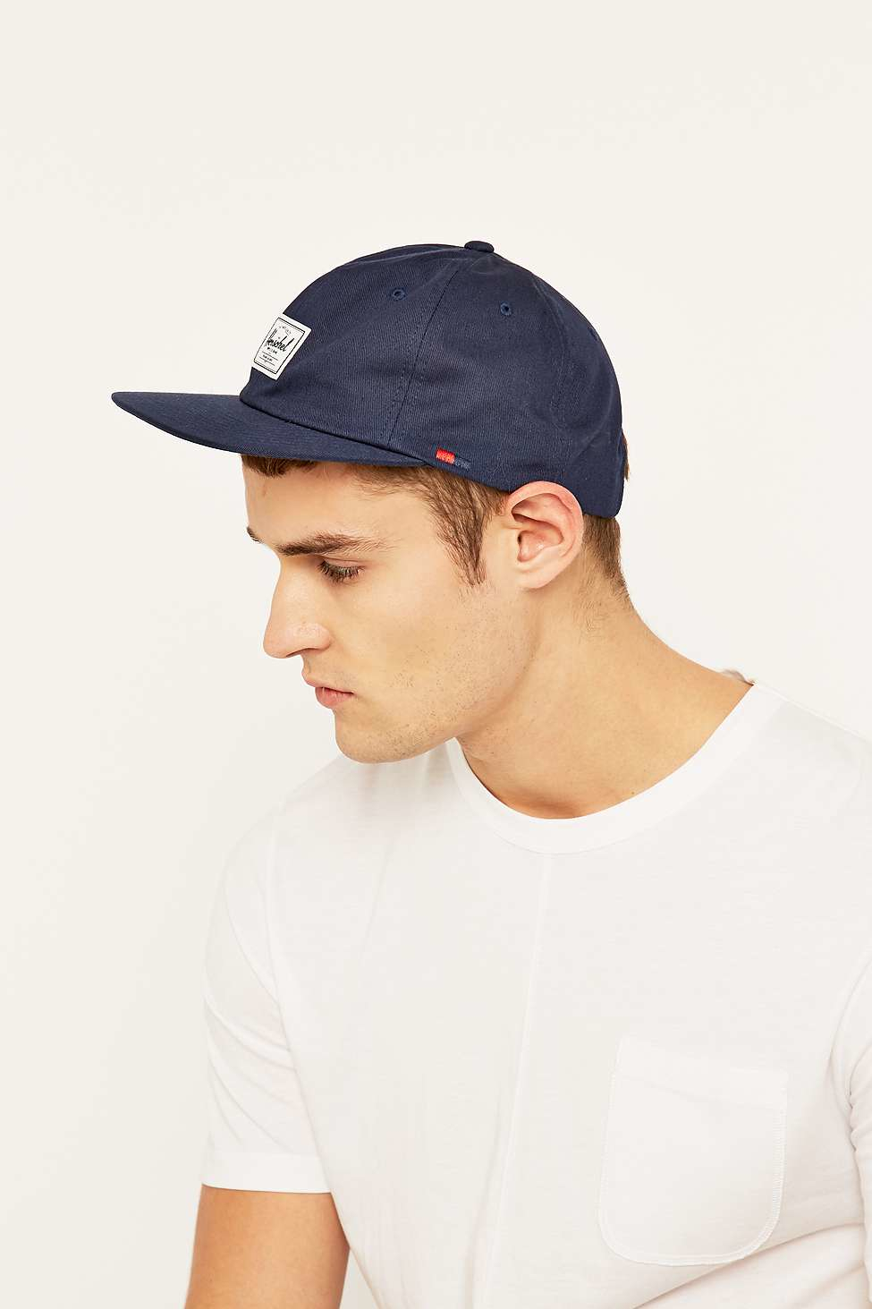 cheap for discount 3c120 656ba ... promo code for herschel supply co. albert navy strapback cap in blue  for men lyst