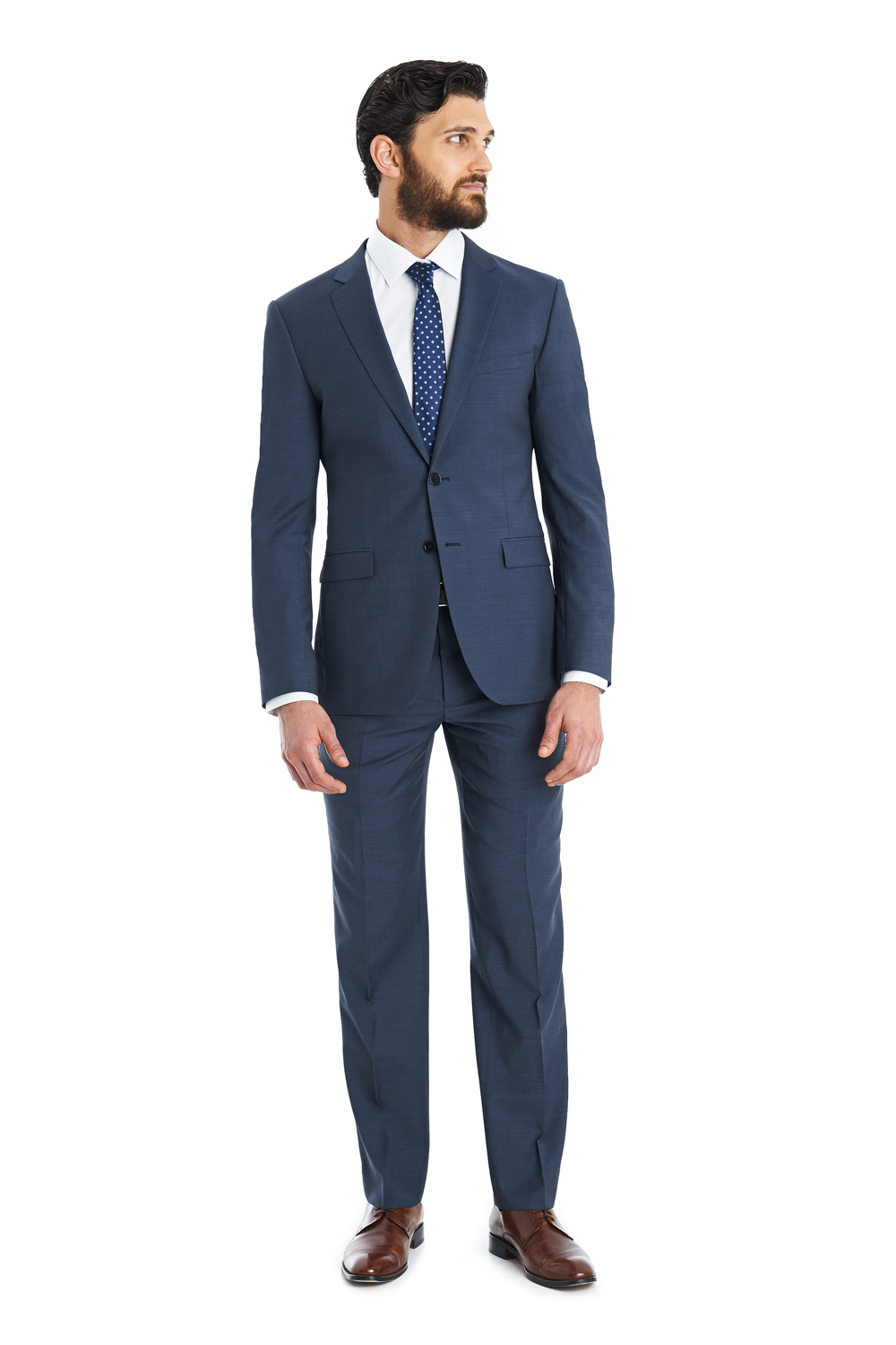 Dkny Slim Fit Petrol Blue 2-piece Suit in Blue for Men | Lyst
