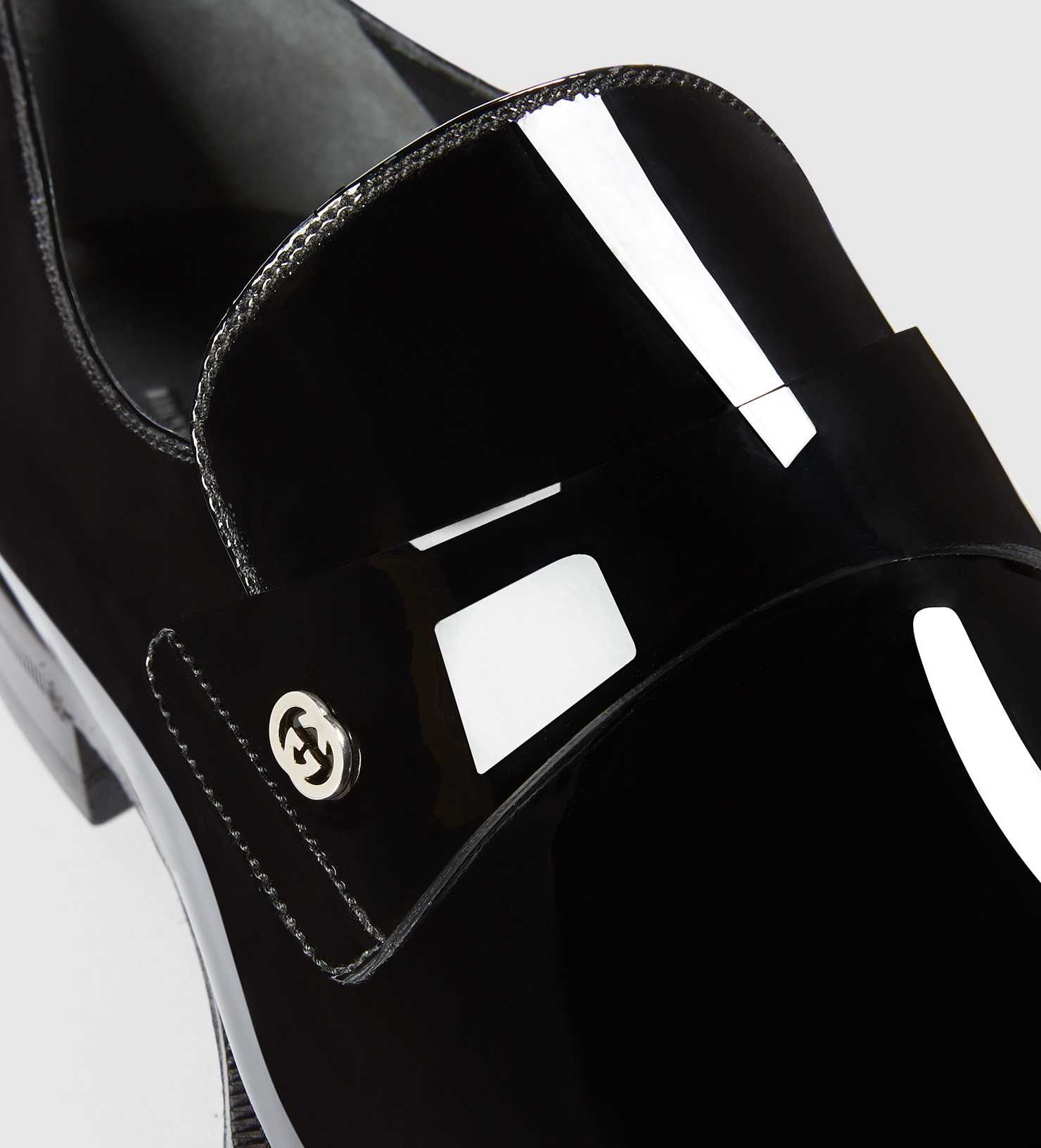 304a0c275 Lyst Men Leather Loafer For Black Gucci In Patent 60Er6