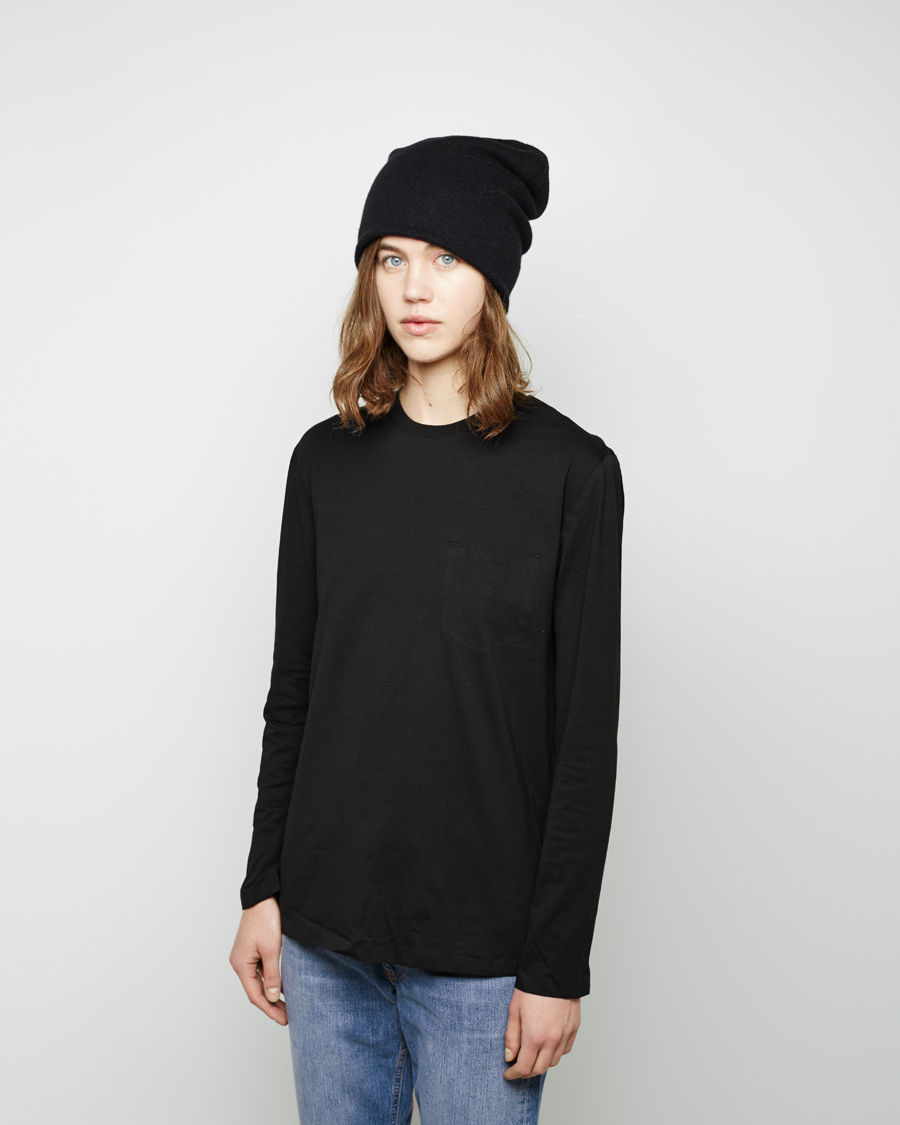 Lyst - T By Alexander Wang Cashmere Blend Knit Beanie in Black d07f06473c3