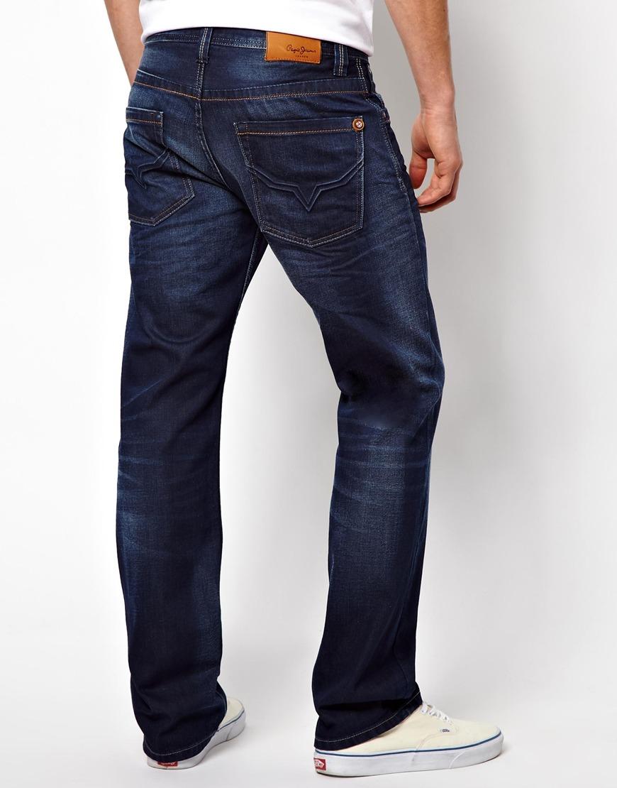 pepe jeans pepe kingston jean clean coated indigo in blue. Black Bedroom Furniture Sets. Home Design Ideas