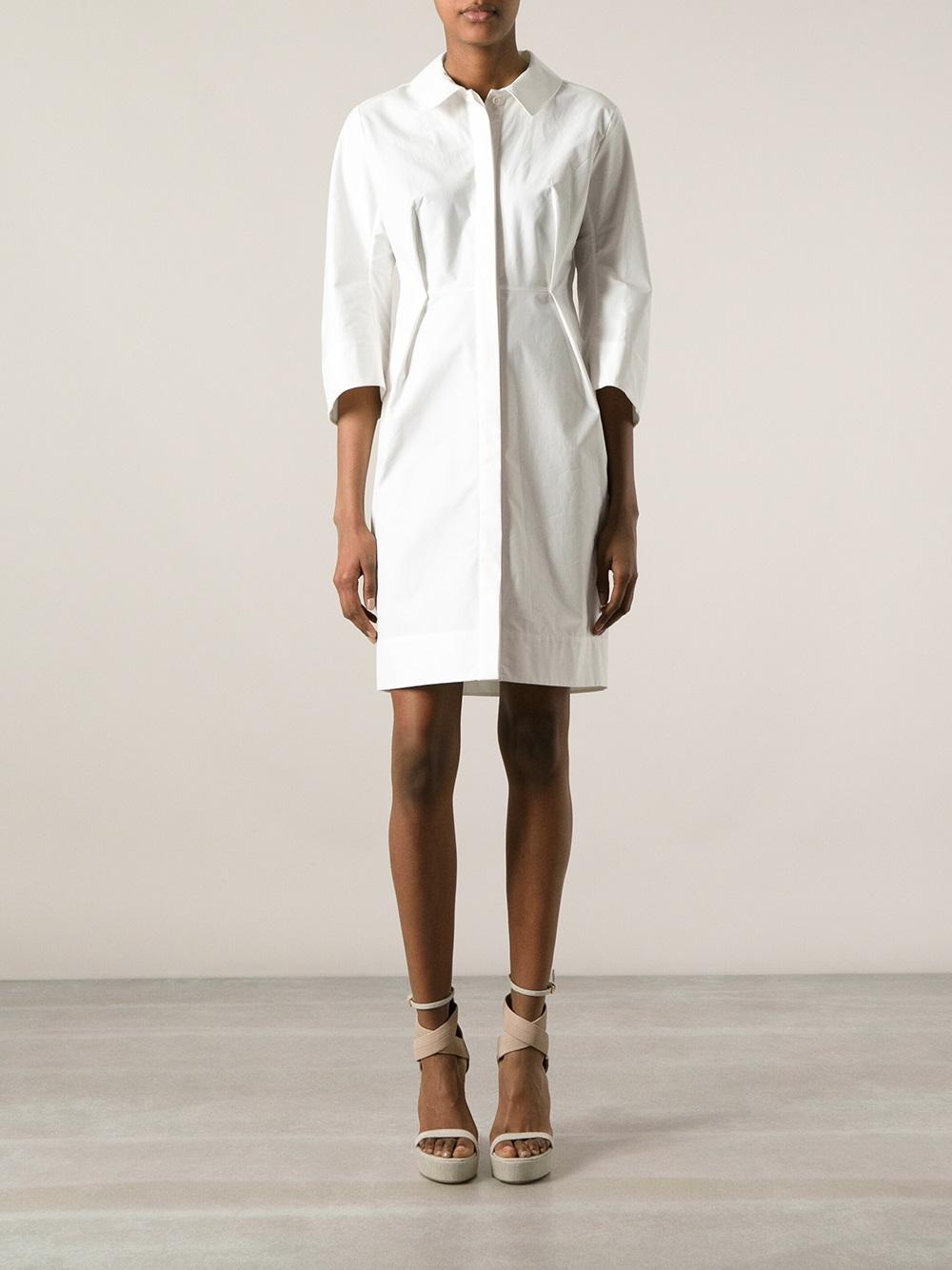 Lyst Jil Sander Shirt Dress In White
