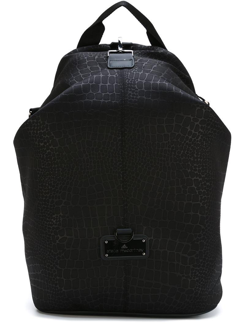 adidas by stella mccartney 39 studio 39 backpack in black lyst. Black Bedroom Furniture Sets. Home Design Ideas