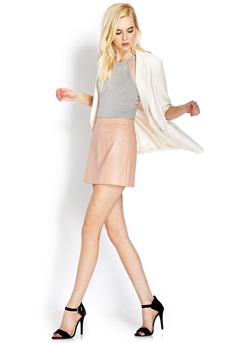 Forever 21 Pretty Tough Mini Skirt in Orange | Lyst