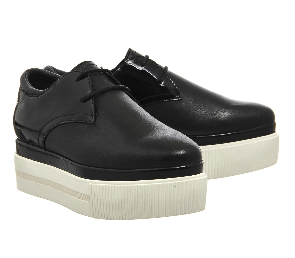 ash katia lace up platform shoes in black lyst
