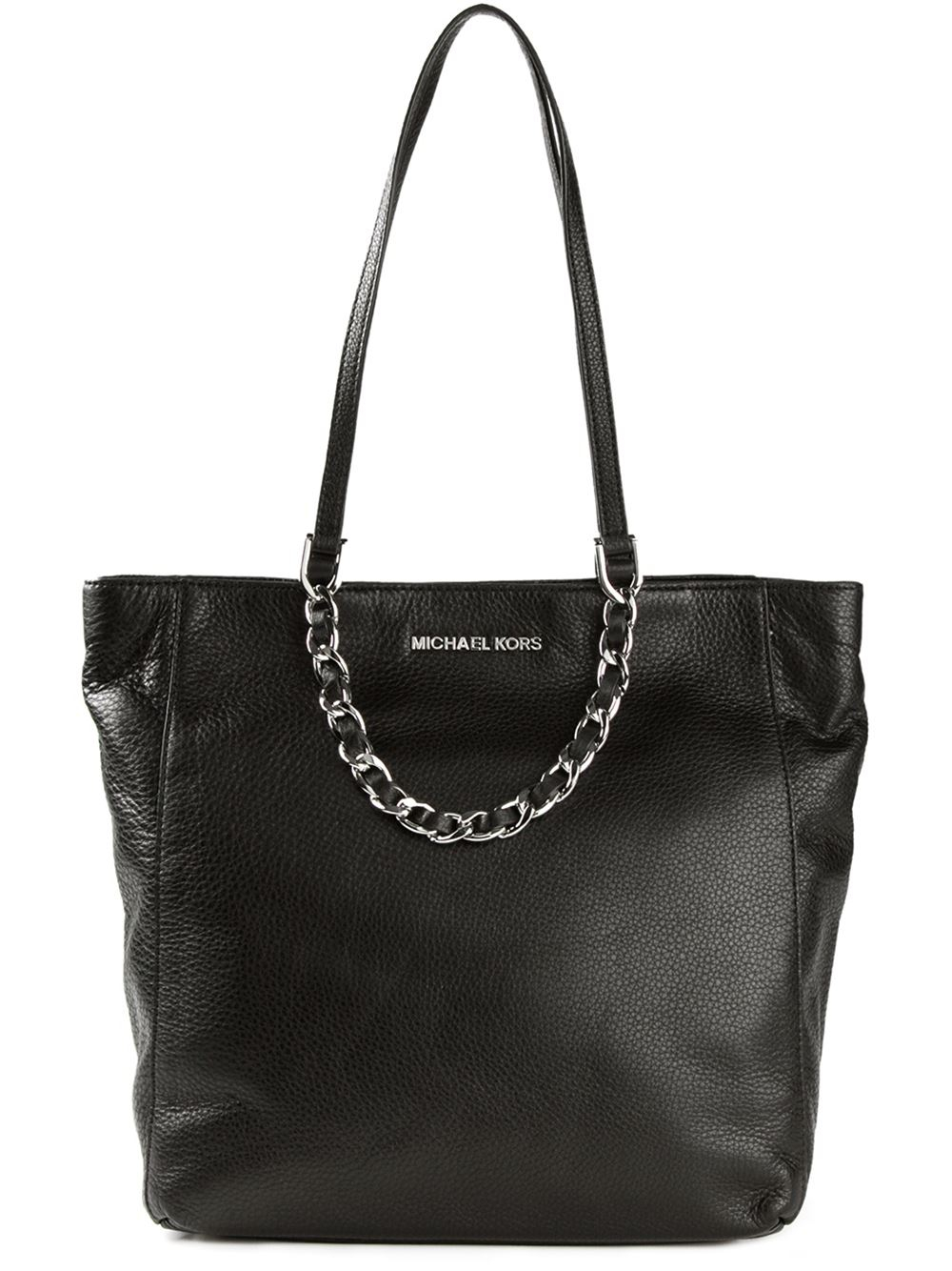 lyst michael michael kors harper shopper tote in black. Black Bedroom Furniture Sets. Home Design Ideas