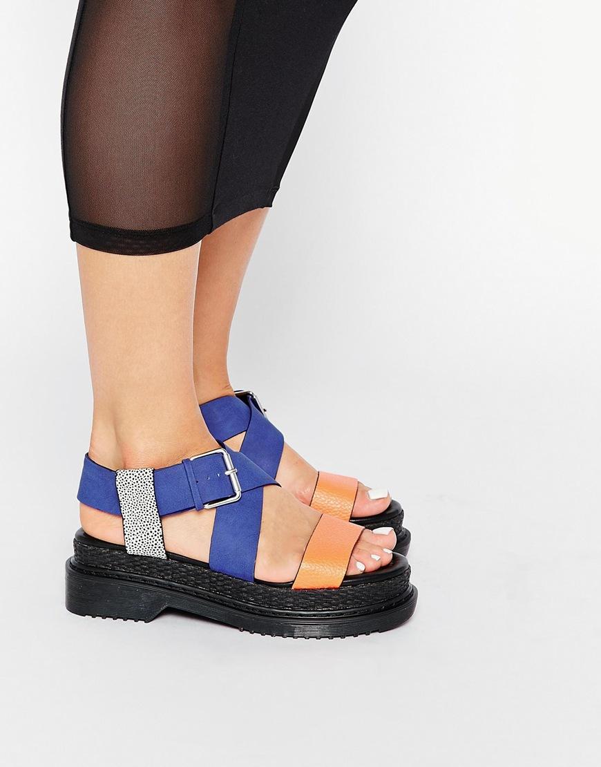 Asos Fenya Chunky Flatform Sandals Lyst