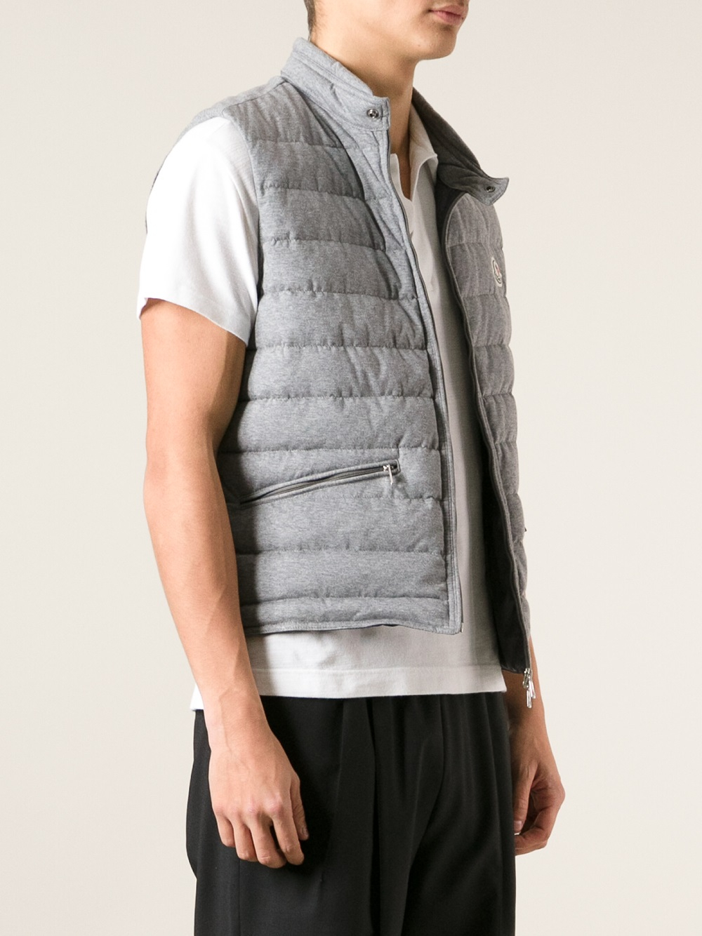 fd1101b26 Lyst - Moncler Gerard Gilet in Gray for Men