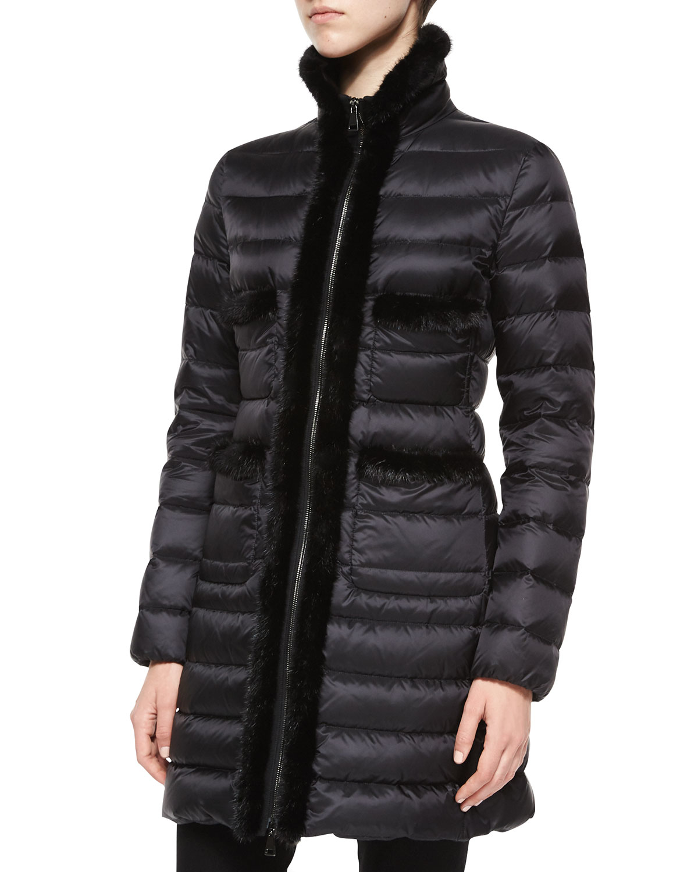 moncler jacket fur trim