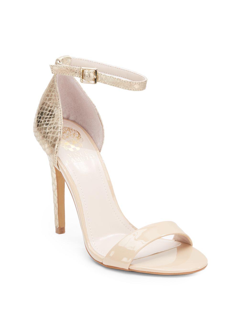 195e0d677c2 Lyst - Vince Camuto Allison High-Heel Sandals in Metallic