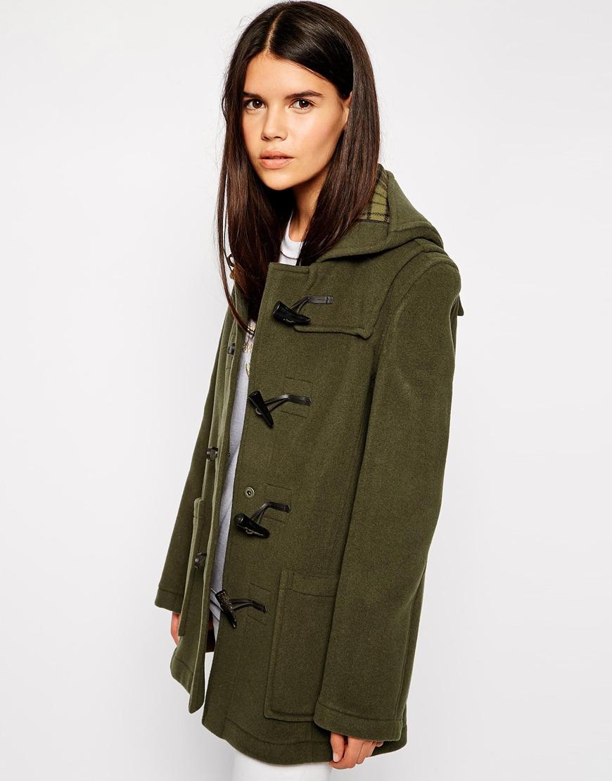 Gloverall Swing Duffle Coat in Green | Lyst