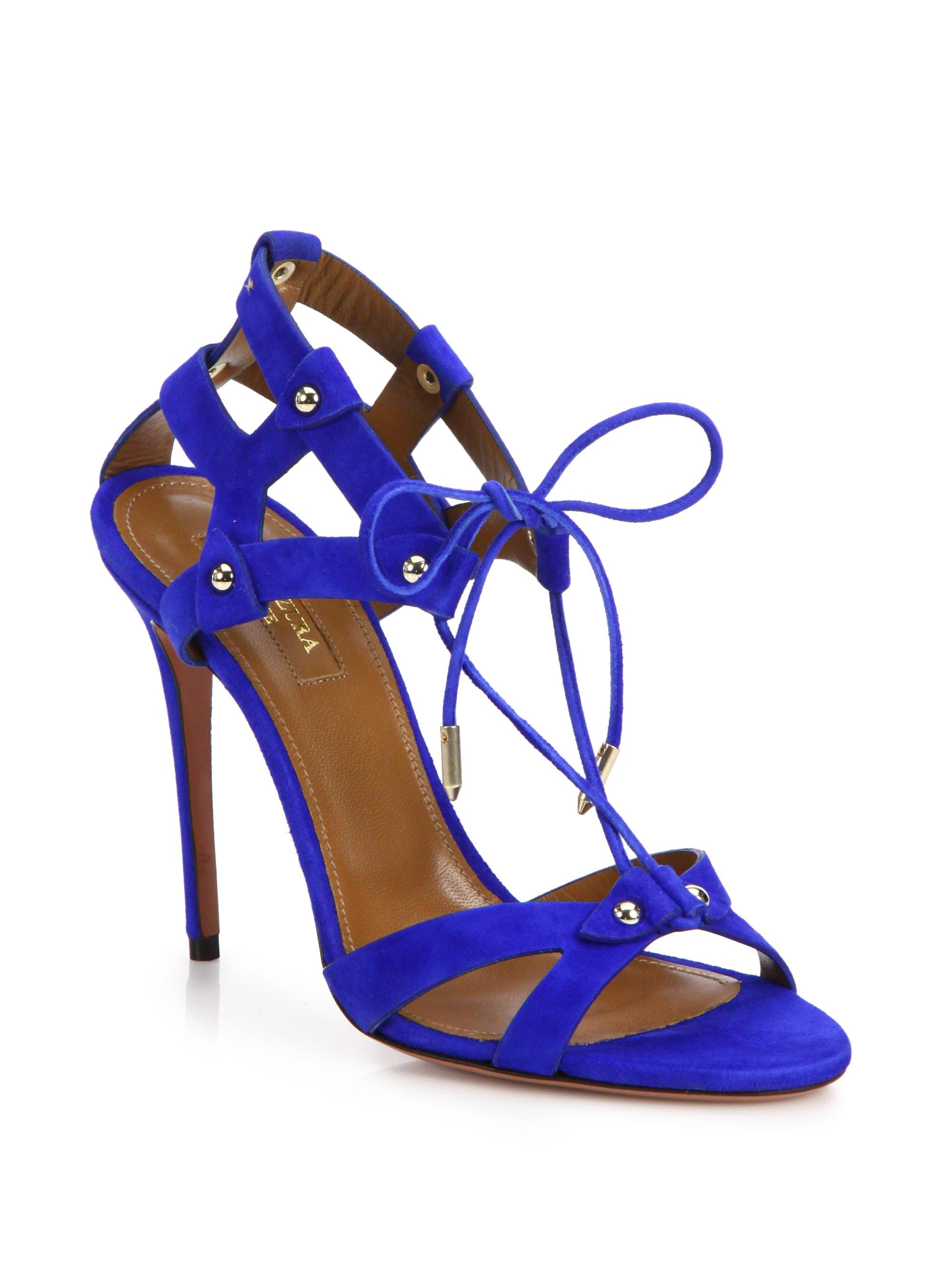 strappy sandals - Blue Aquazzura A6gCIG