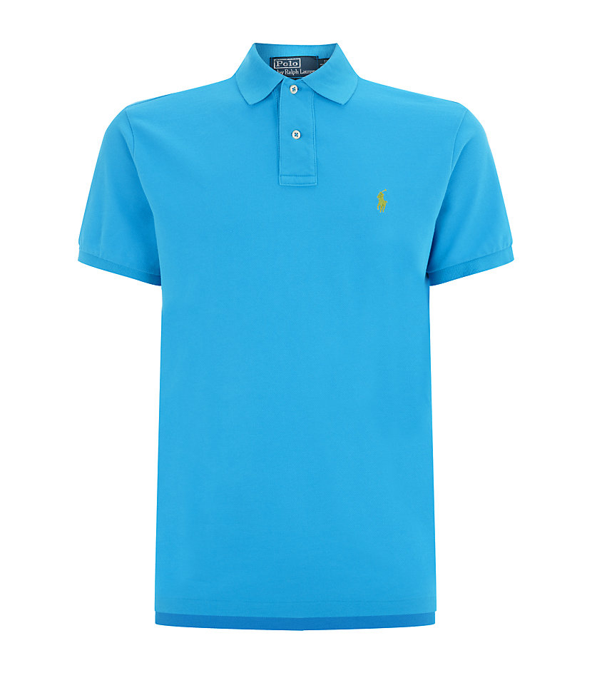 Polo Ralph Lauren Weathered Mesh Custom Fit Polo Shirt In