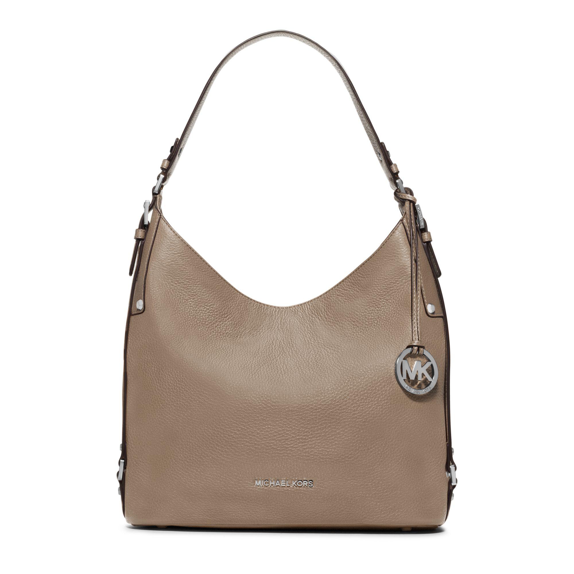 Michael kors Bedford Large Leather Shoulder Bag in Brown   Lyst
