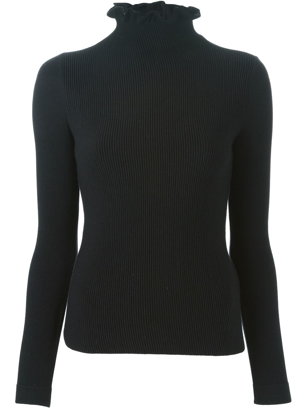 lyst emporio armani turtle neck ribbed front sweater in. Black Bedroom Furniture Sets. Home Design Ideas