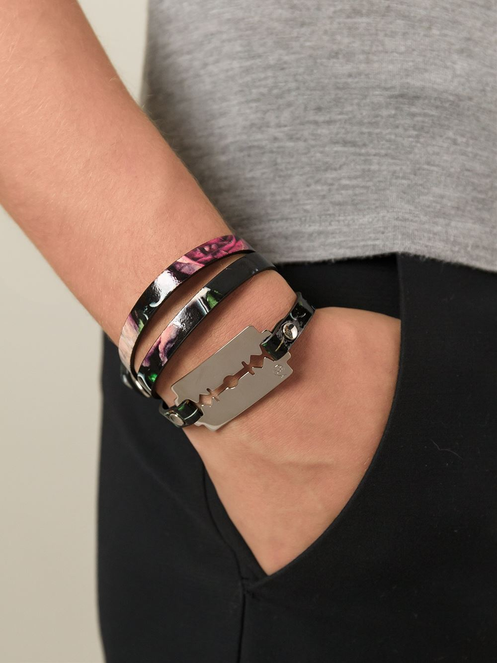 and wrap triple personalised disc bracelet pearl products with leather adjustable silver img