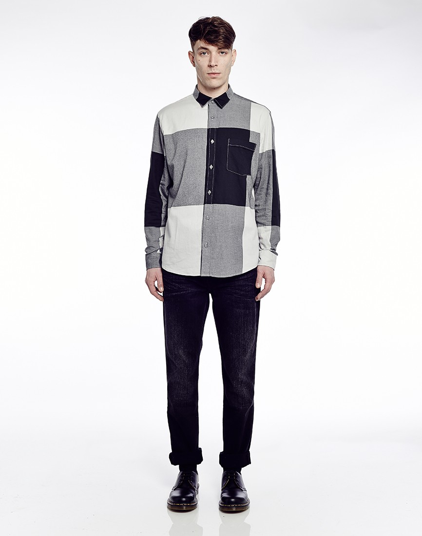 Cheap Monday Neo Flannel Shirt In Check In Black For Men