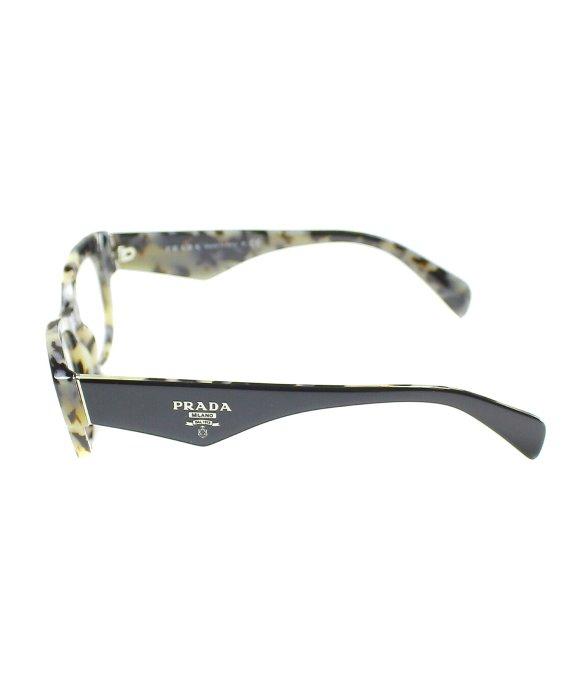 cd7a8c3ed2ce Lyst - Prada Pr 13Qv Kad1O1 White Havana Black Cat Eye Eyeglasses