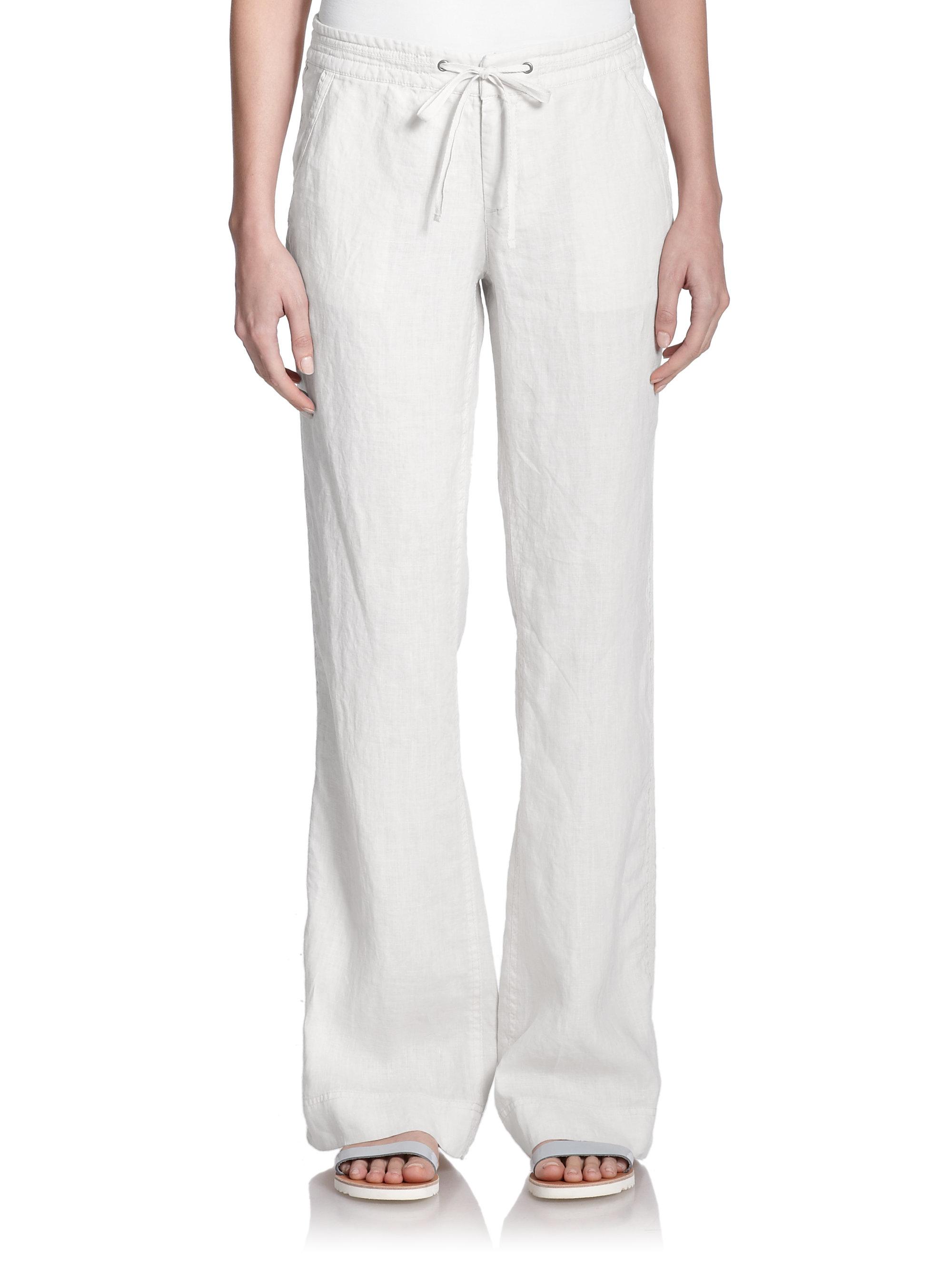Joie Katriane Wide-leg Linen Pants in White | Lyst