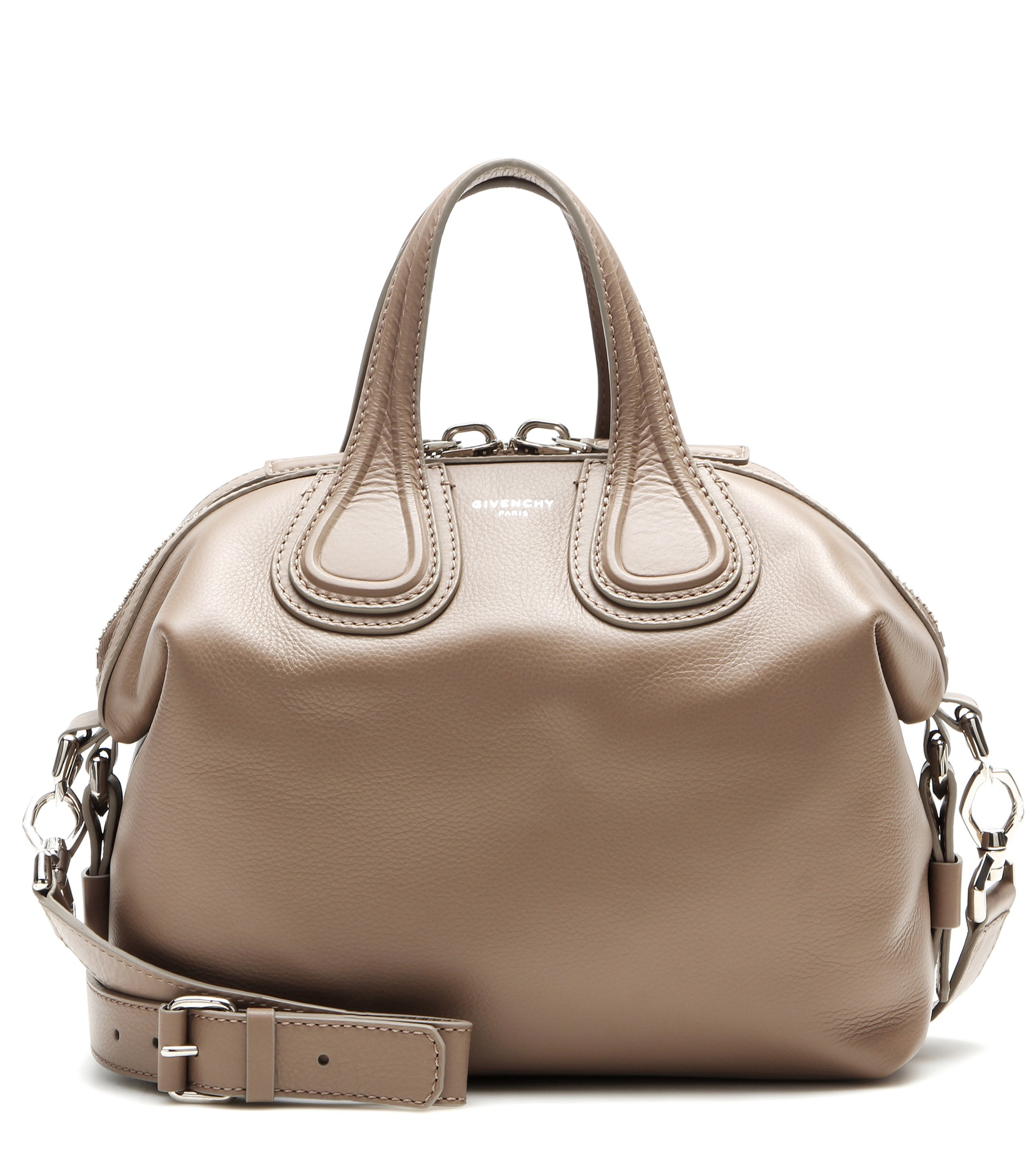 59beb54b8e Givenchy Nightingale Small Leather Tote in Natural - Lyst