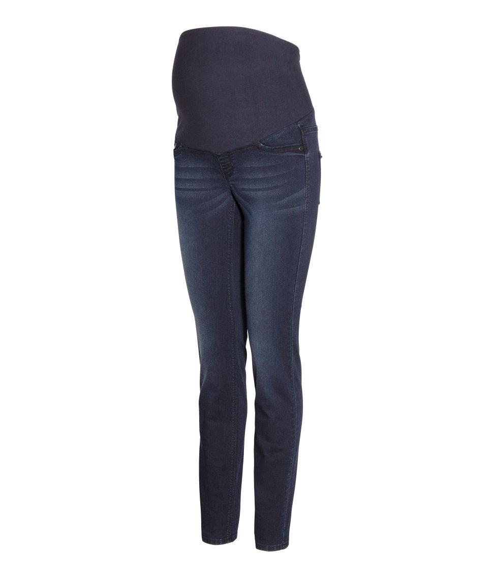 H&m Mama Super Skinny Jeans in Blue | Lyst