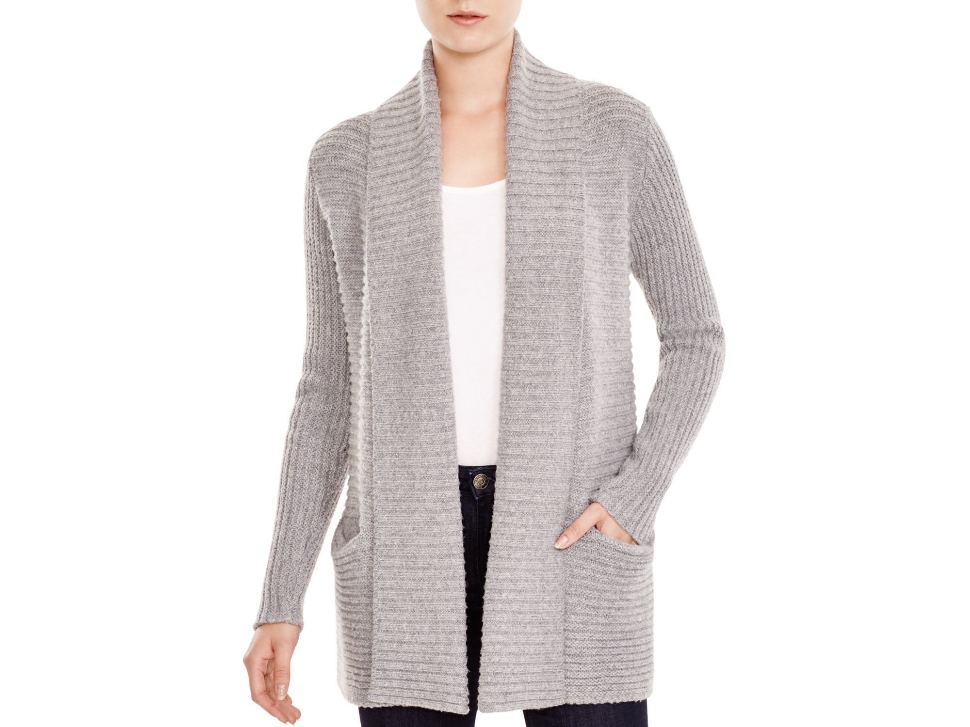 Soft joie Kanoa Open Cardigan in Gray | Lyst
