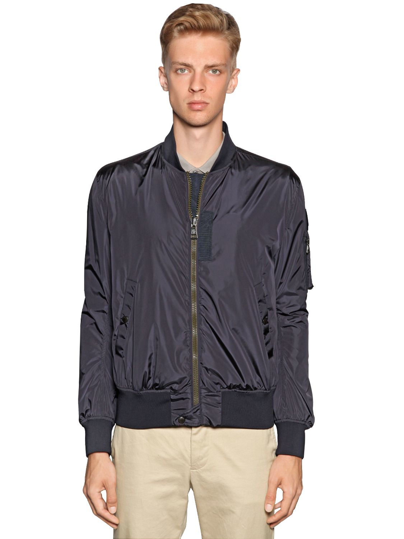 2b253ad4db18 Moncler Timothe Nylon Bomber Jacket in Blue for Men - Lyst