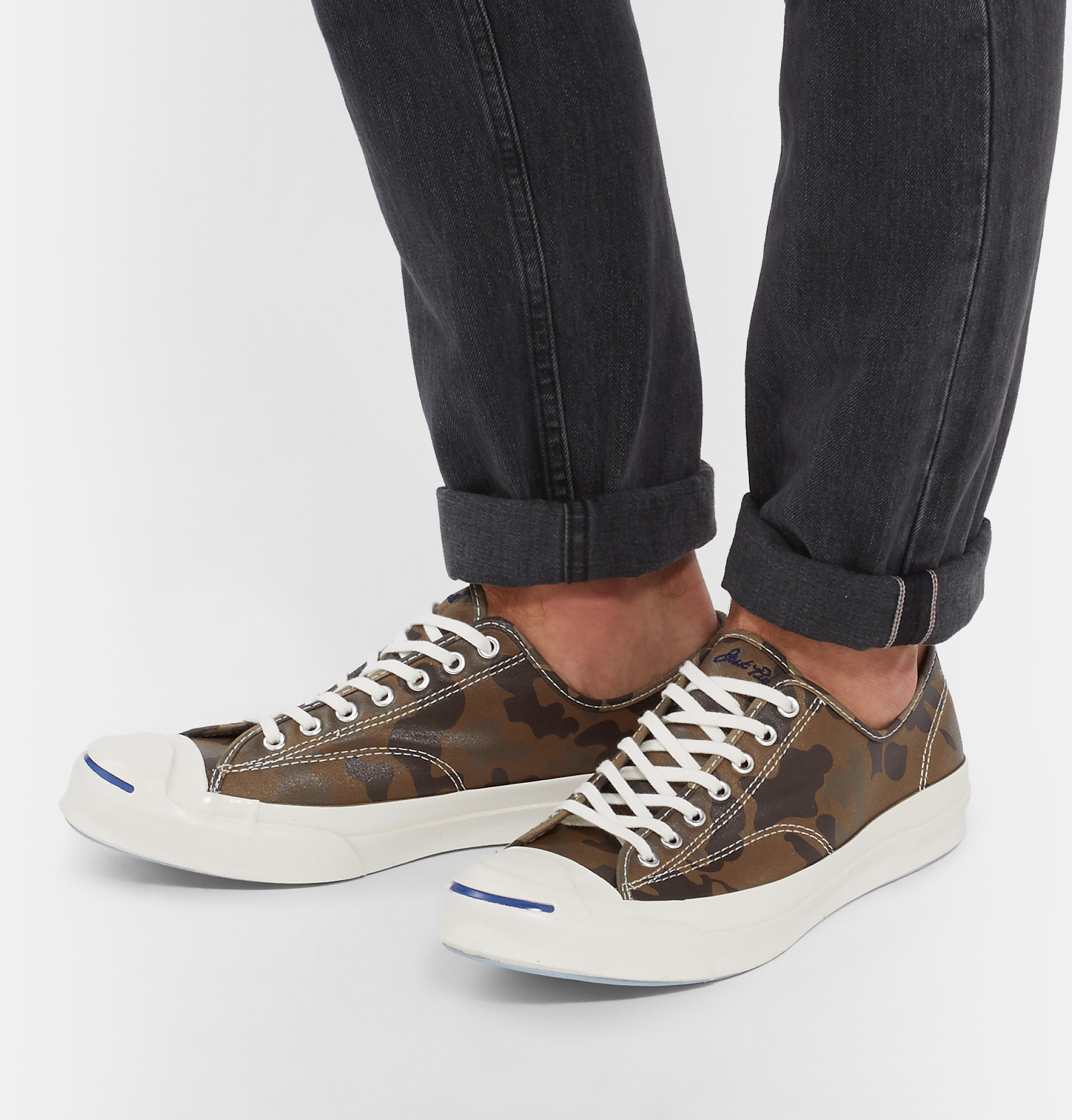 Converse Jack Purcell Signature Camouflage-print Sneakers in Brown for Men  - Lyst 7eaa4816b
