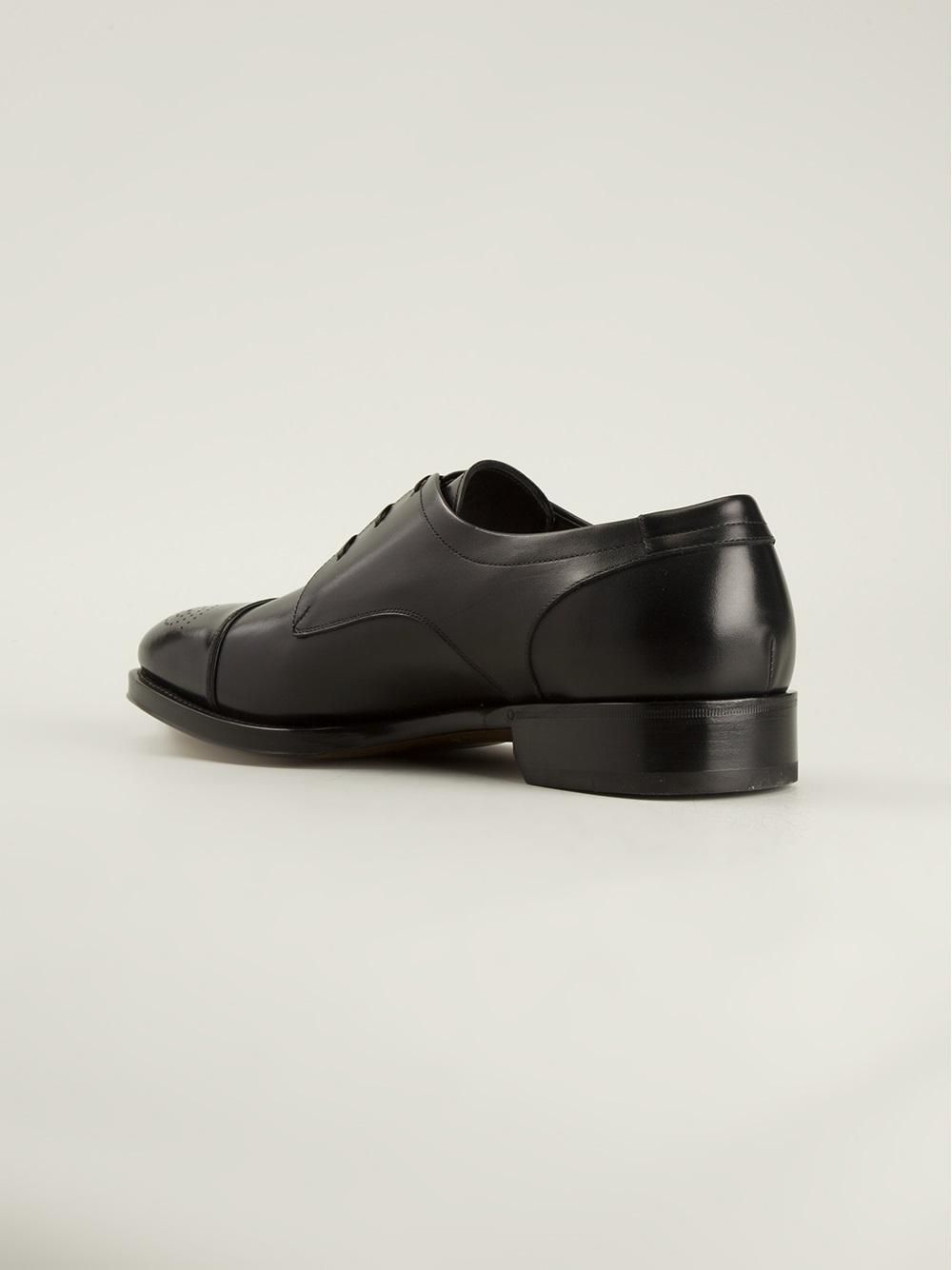 ferragamo oxford shoes in black for lyst