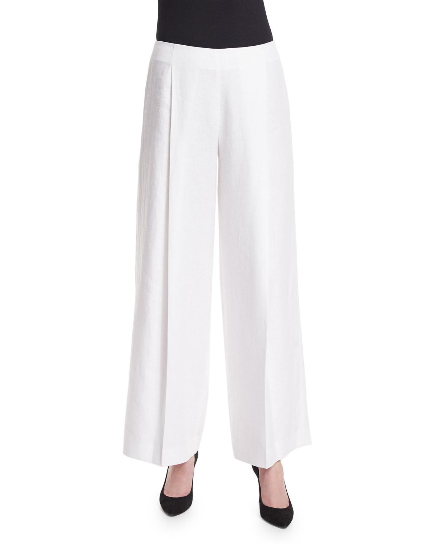 lined white linen pants - Pi Pants