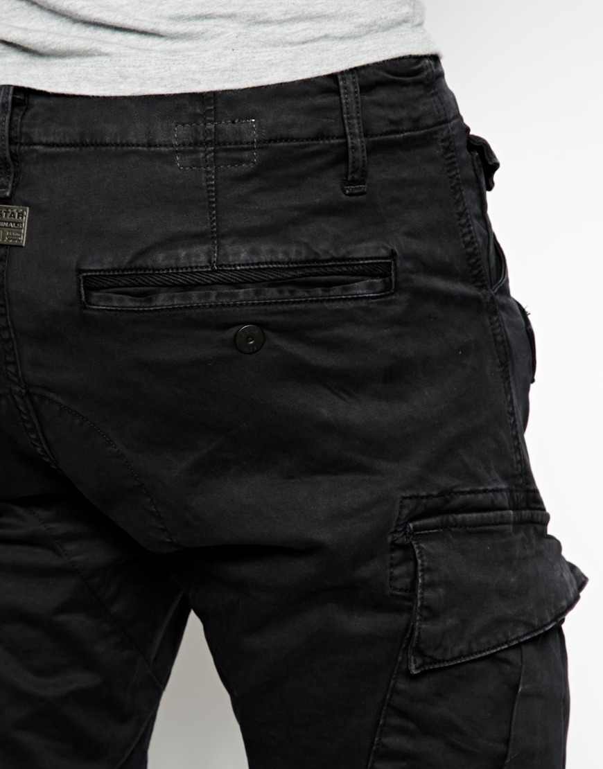 G Star Raw Cargo Trousers Rovic Slim Fit Stretch Micro
