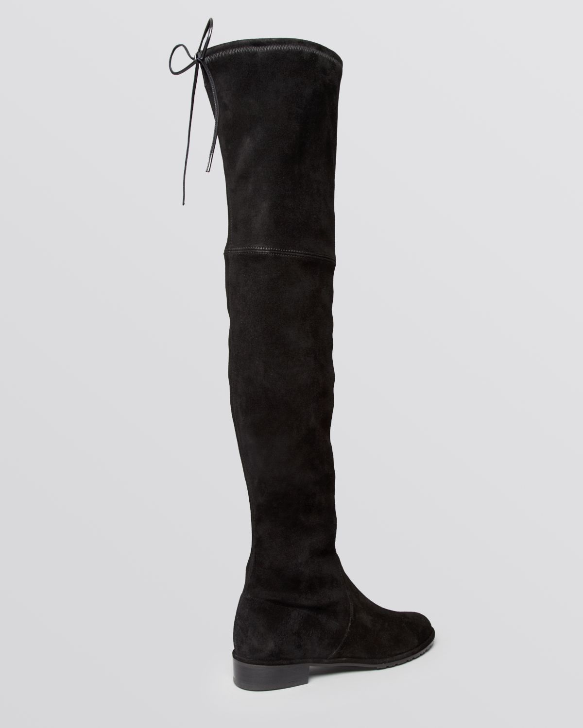 Stuart Weitzman Lowjack Leather And Neoprene Knee High