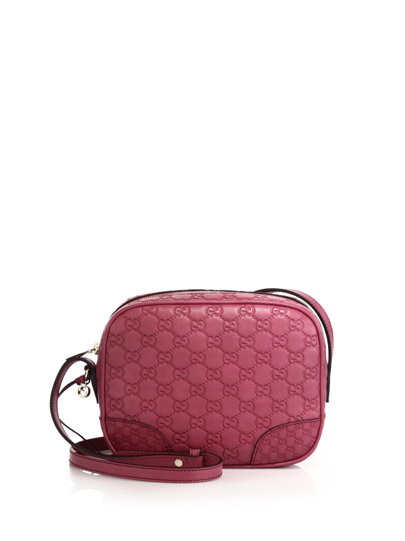 2f3a216012a Lyst - Gucci Bree Ssima Mini Leather Disco Bag in Pink