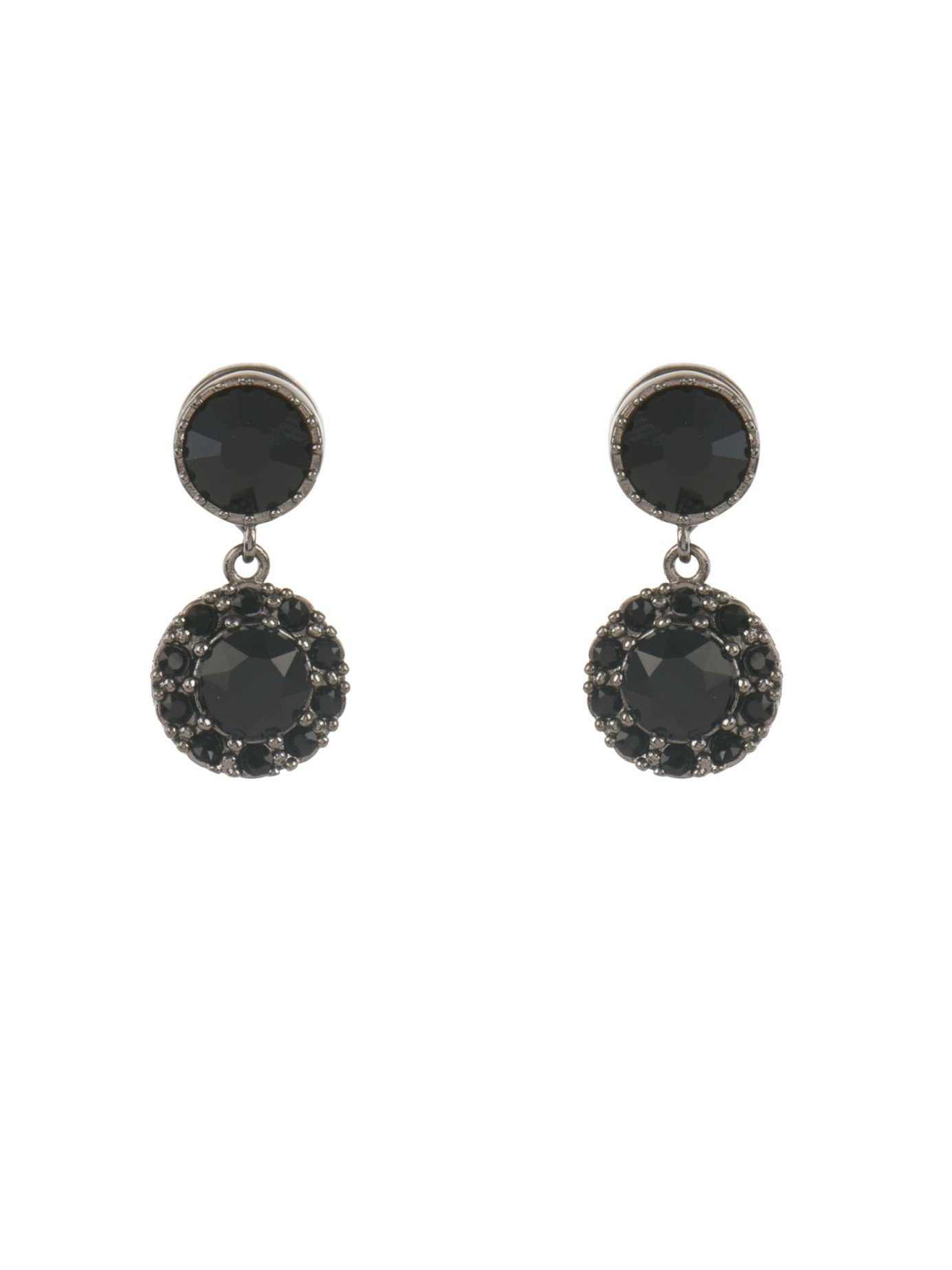 e9ba4cfc6 Givenchy Crystal-embellished Magnetic Earrings in Black - Lyst