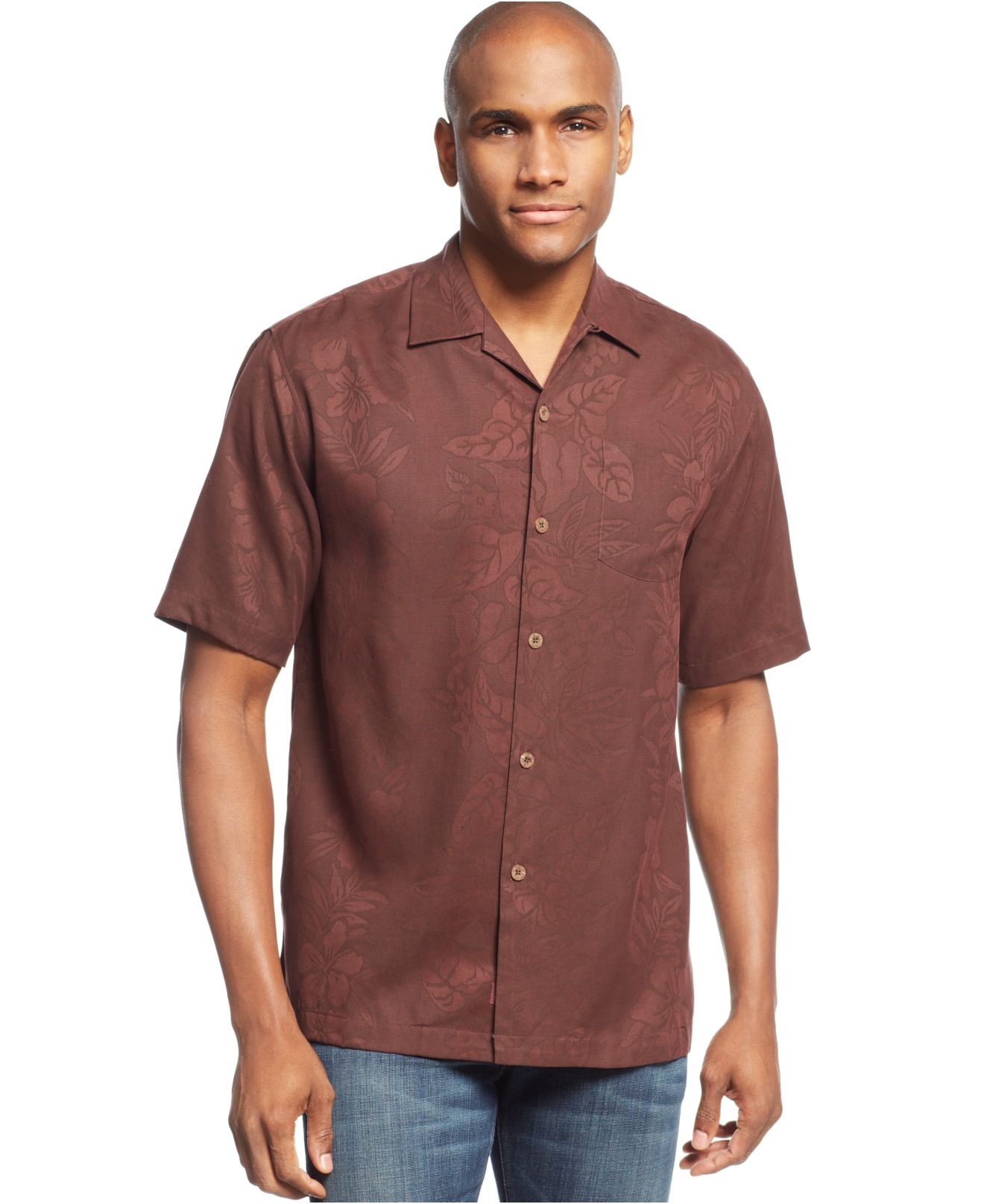 Tommy Bahama Big And Tall Palms Over Paradise Silk Shirt