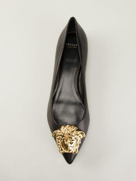 Versace Ballerina Shoes Versace Medusa Ballerina