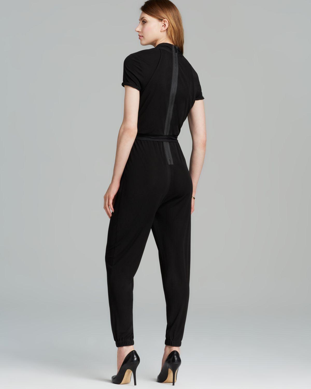 30e68458f54 Lyst - Elie Tahari Hudson Jumpsuit in Black