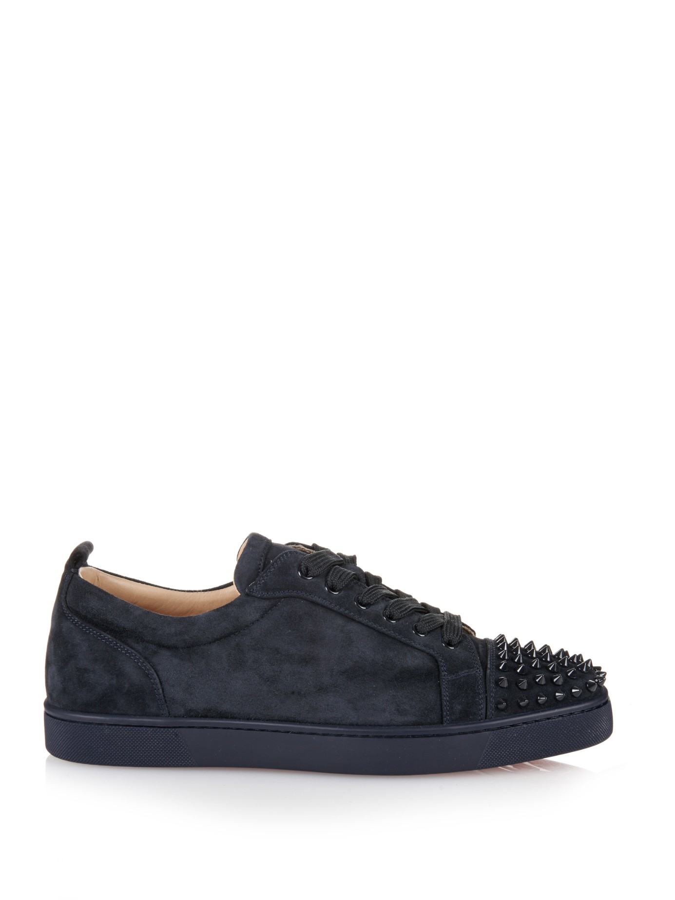 Lyst - Christian Louboutin Louis Suede Low-Top Sneakers in Blue for Men 9c3d30c42c00