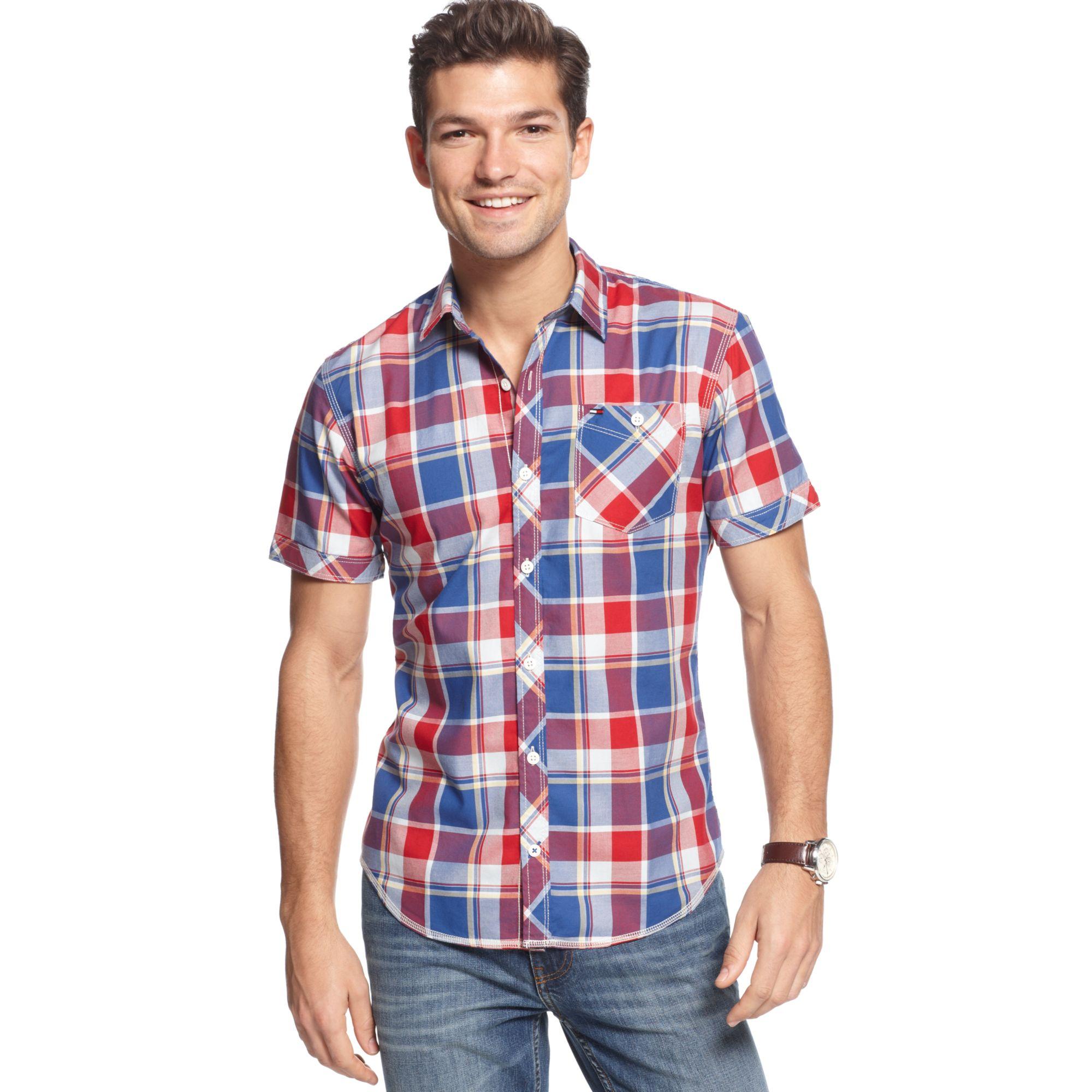 63599924 Tommy Hilfiger Spark Check Shirt Hilfiger Denim Collection in Blue ...