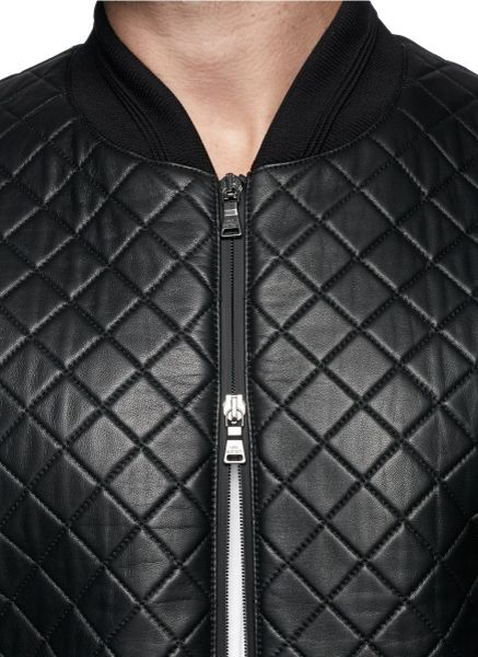 Neil Barrett Leather Jacket Quilted