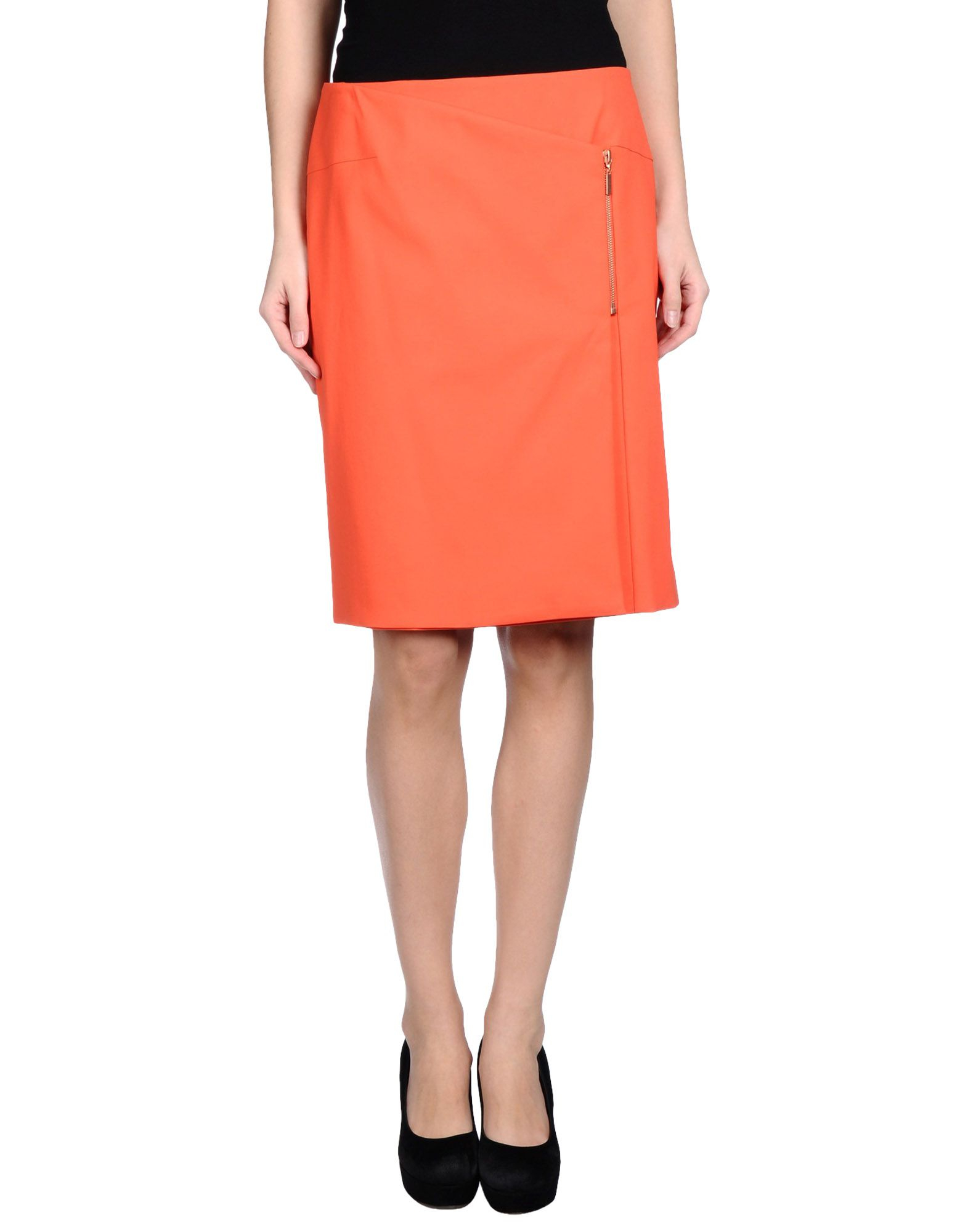 cedric charlier knee length skirt in pink coral save