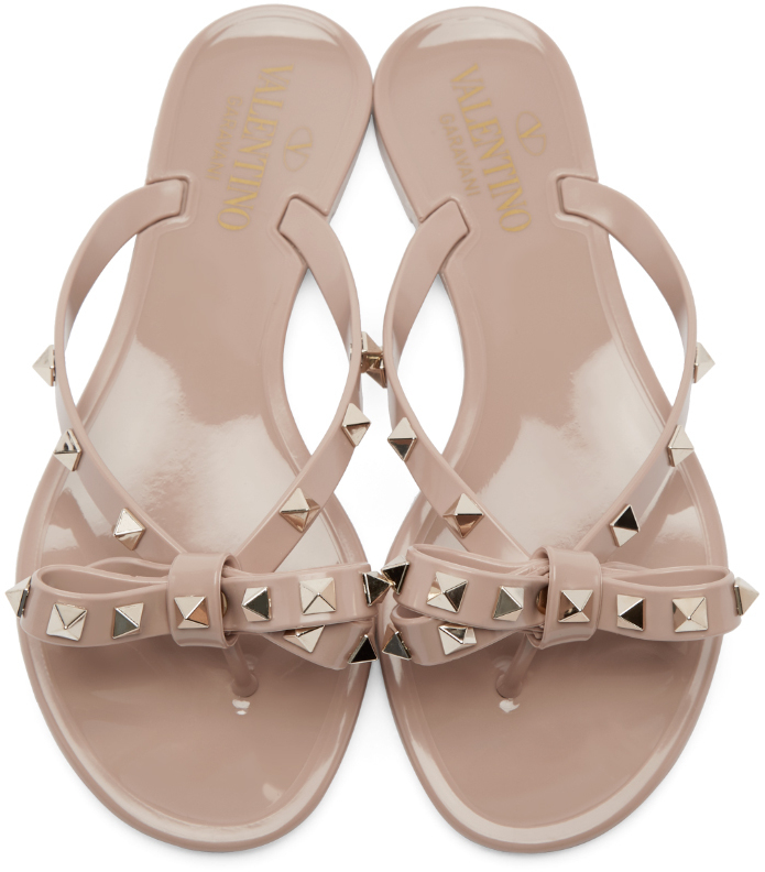 sale sneakernews clearance low price fee shipping Valentino Rockstud Bow Sandals cheap sale finishline tFw5LEUCKa