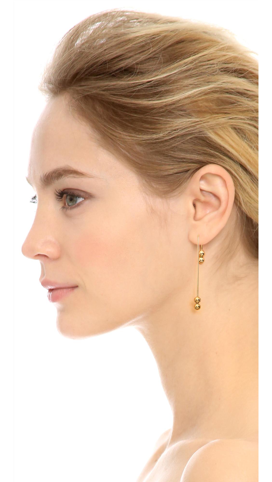 Matrix Earrings in Orange Amber Sceats AWQPg0