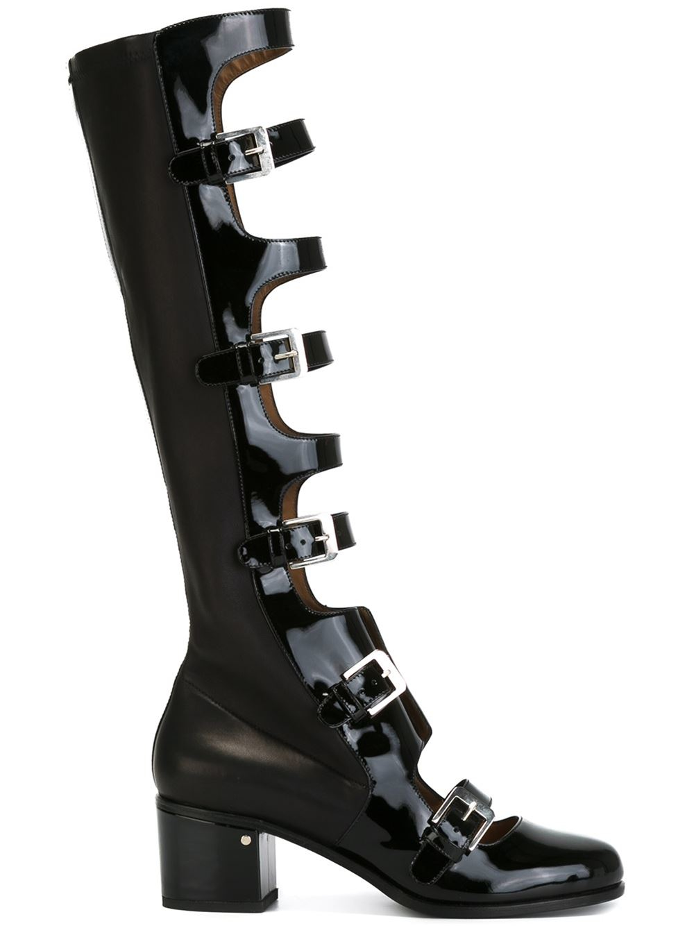 Countdown Package Cheap Price Huge Surprise Sale Online buckled knee high boots - Black Laurence Dacade E7wAt3RxO