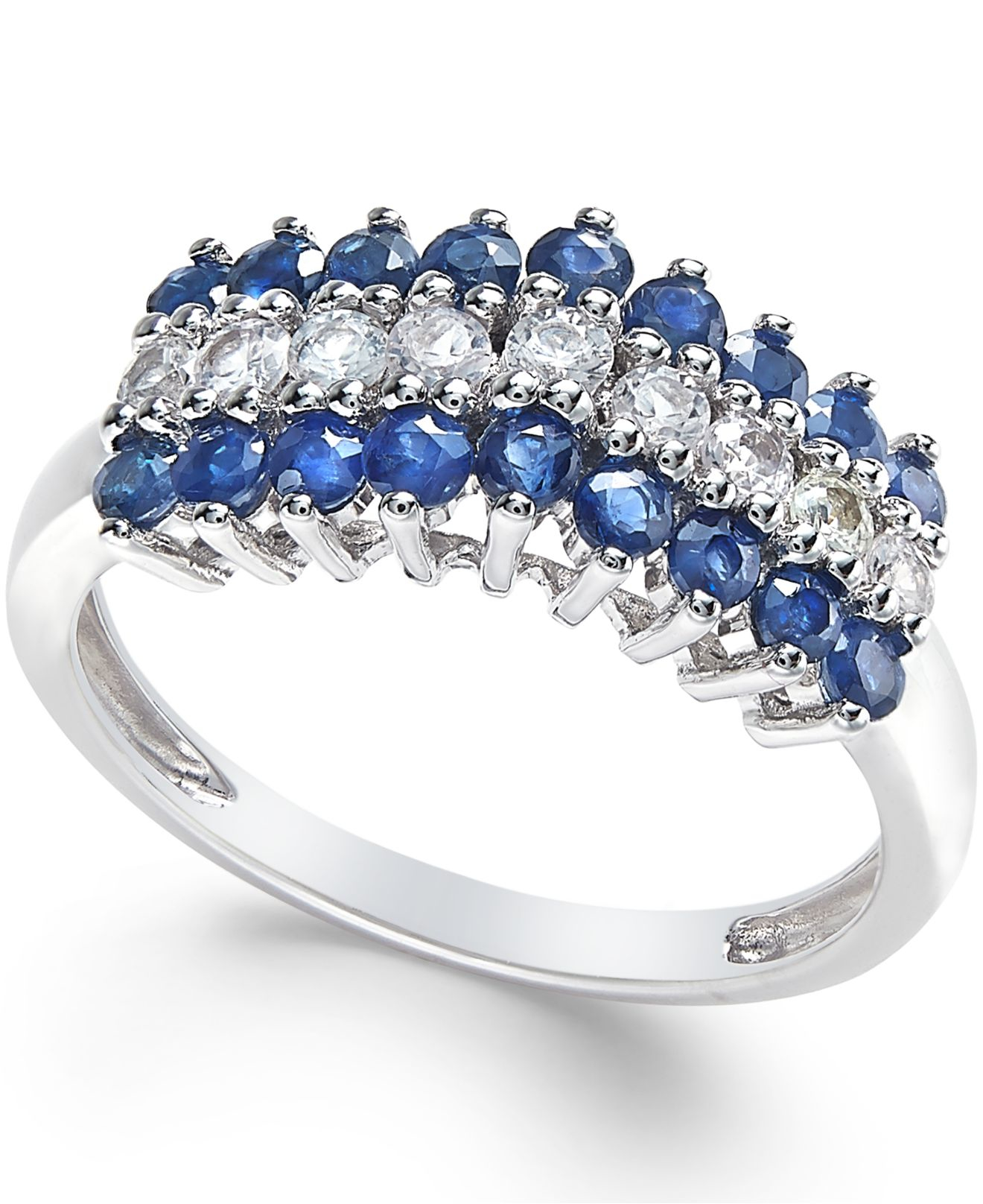 macy s blue sapphire 9 10 ct t w and white sapphire 1