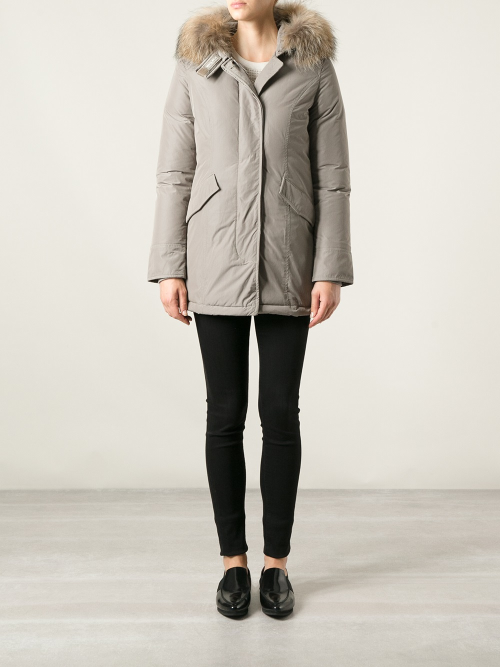 woolrich brown luxury arctic parka in gray lyst. Black Bedroom Furniture Sets. Home Design Ideas