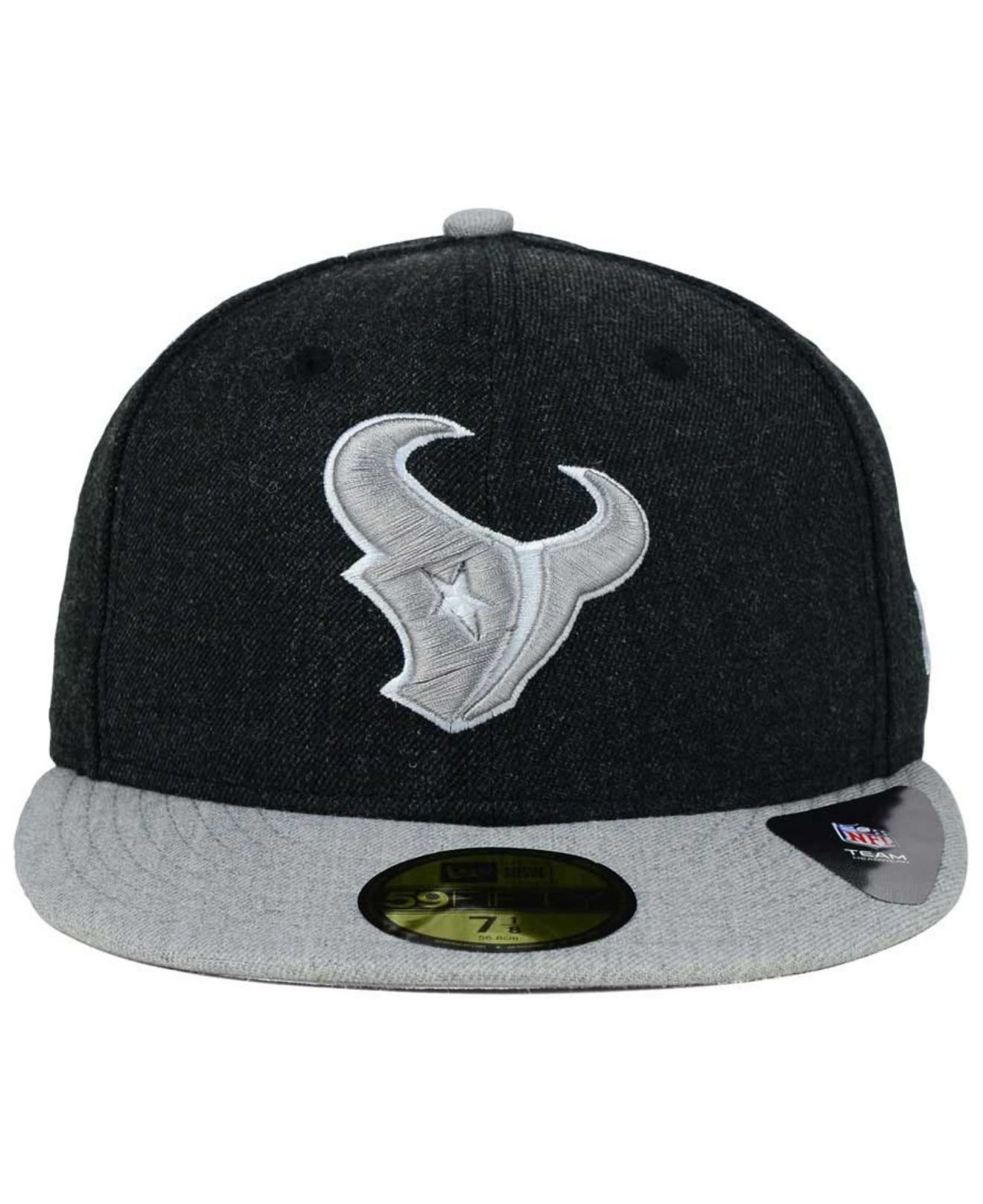 f0d38916e2b sale lyst ktz houston texans heather action 2 tone 59fifty cap in black  e97a2 c3faf