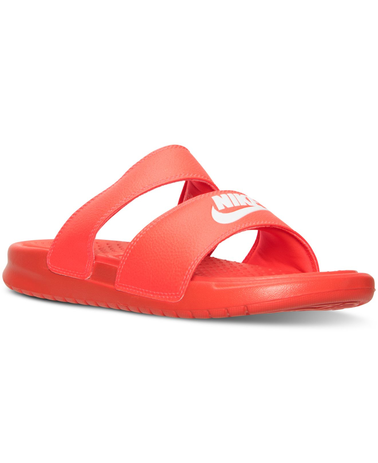 29bd2a1d9dedf1 ... hot lyst nike womens benassi duo ultra slide sandals from finish line  2e3f2 b44fe