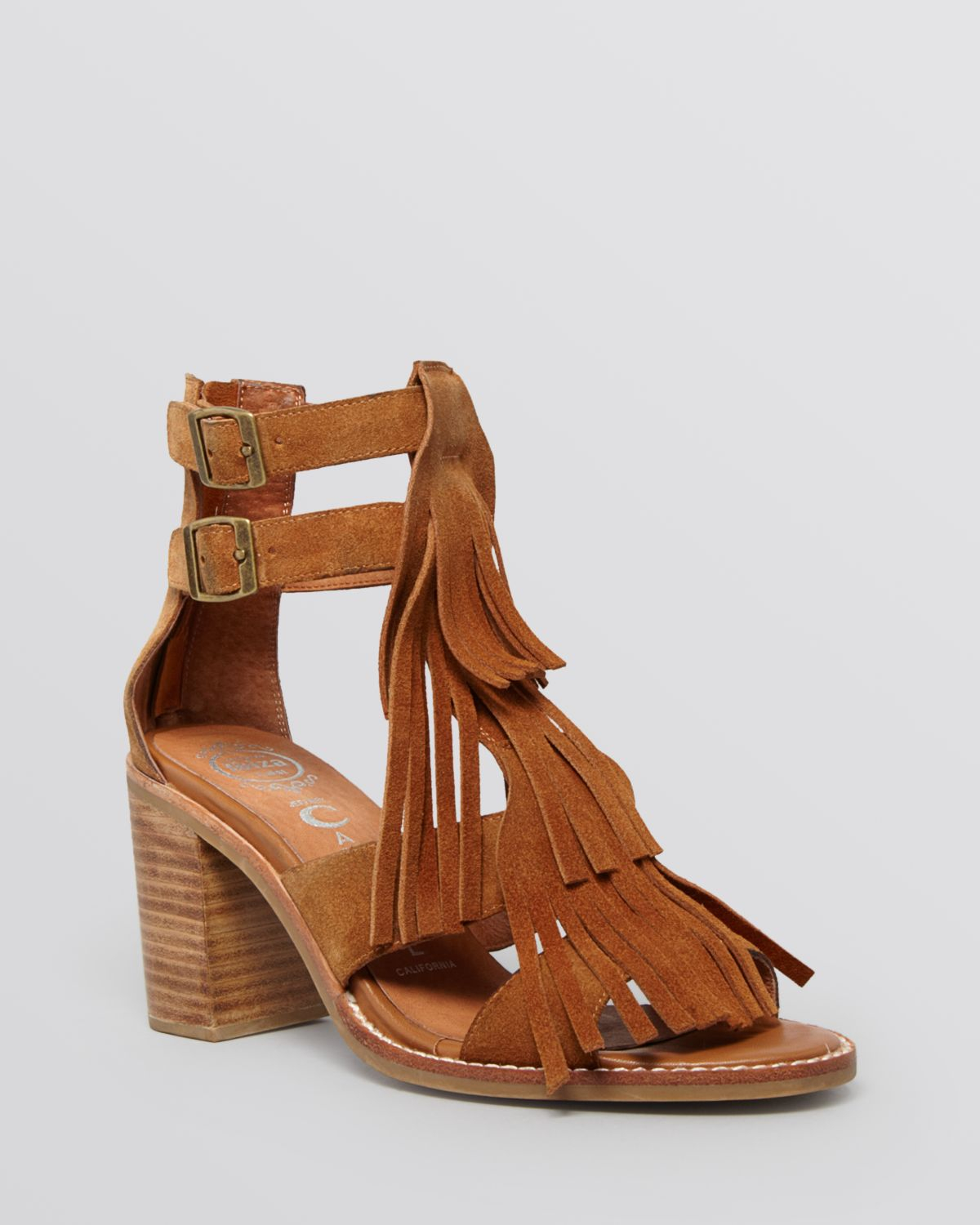 Jeffrey campbell Gladiator Sandals - Dodge Block Heel in Brown | Lyst